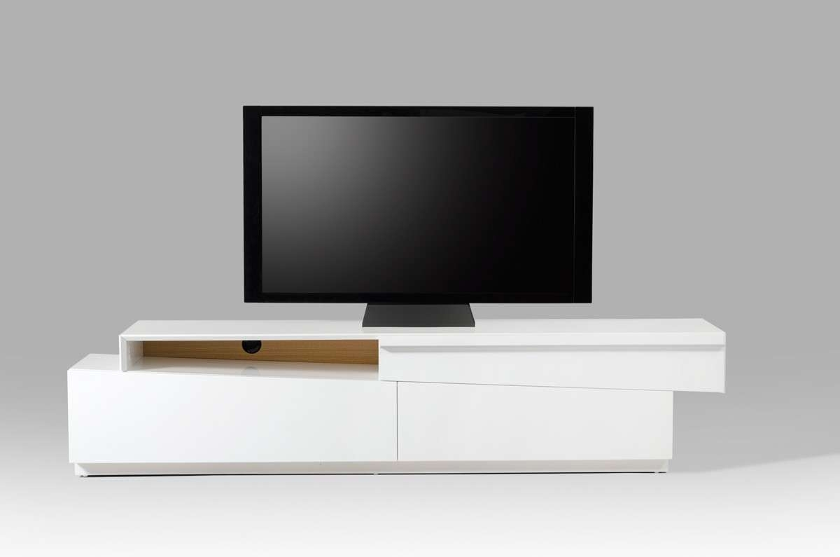 Modrest Cassie Modern White Tv Stand Regarding Modern White Tv Stands (View 13 of 15)