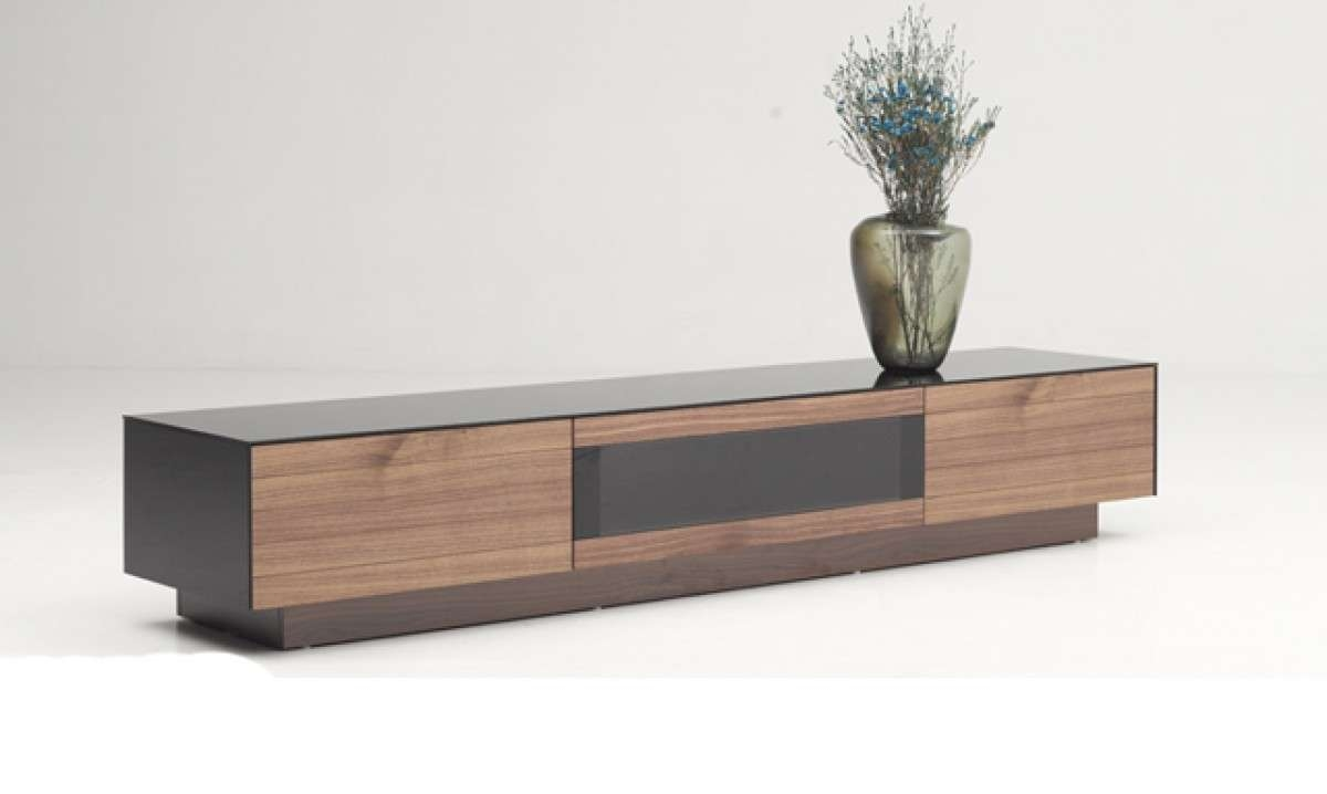 Modrest Darius Modern Walnut Tv Stand – Entertainment Centers Intended For Modern Walnut Tv Stands (View 11 of 15)