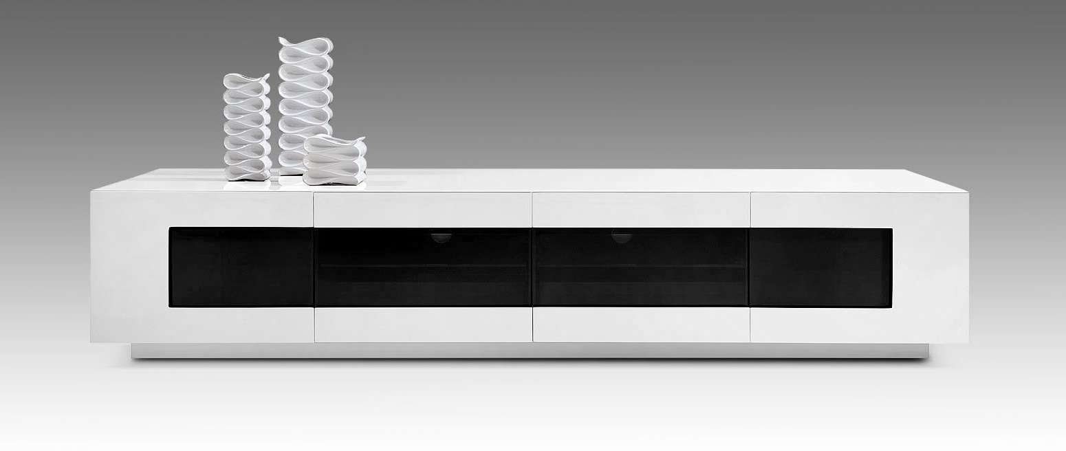 Modrest Frost Modern White Tv Unit For Modern White Gloss Tv Stands (View 11 of 20)