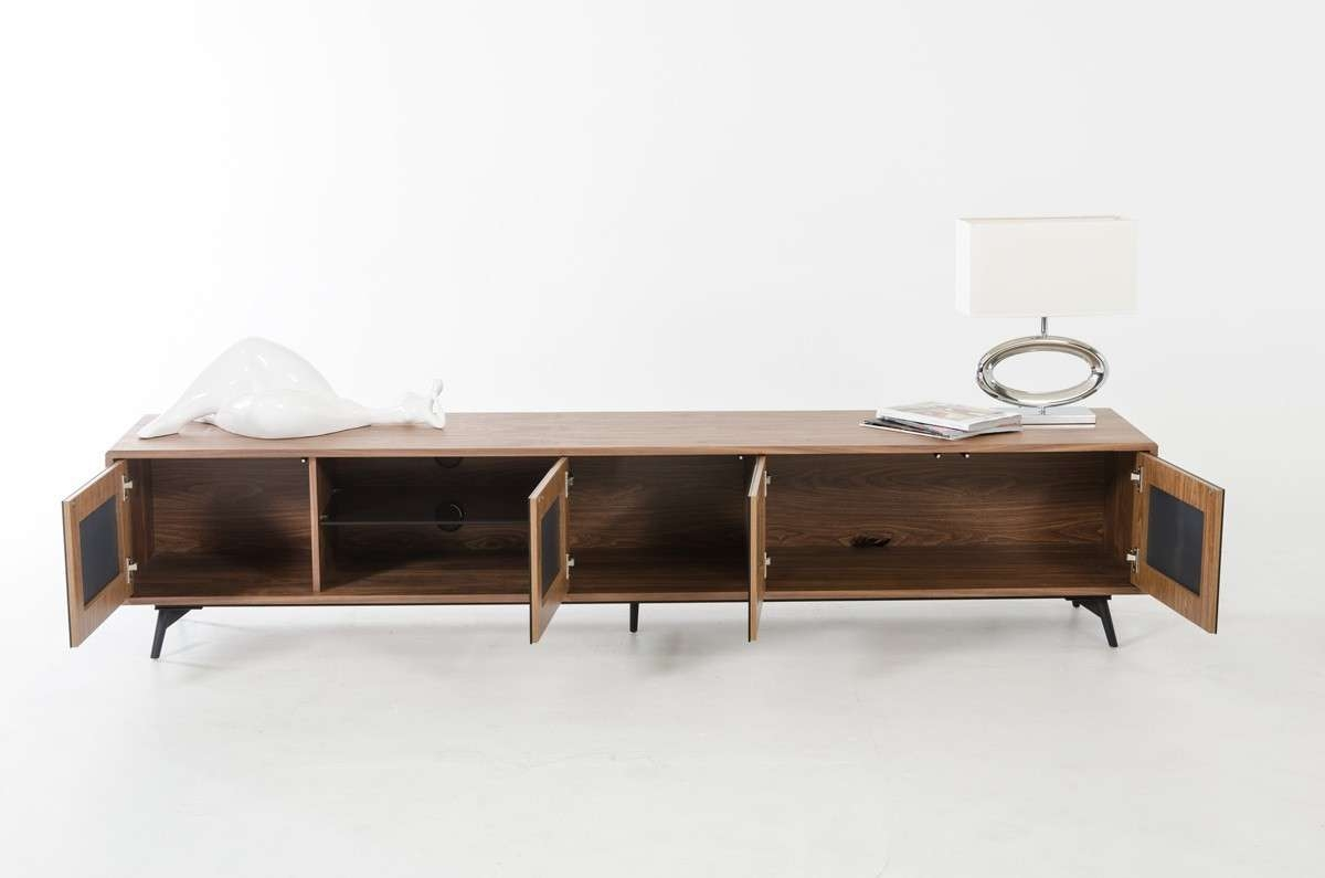 Modrest Kennedy Mid Century Walnut Tv Stand Pertaining To Modern Walnut Tv Stands (Gallery 6 of 15)