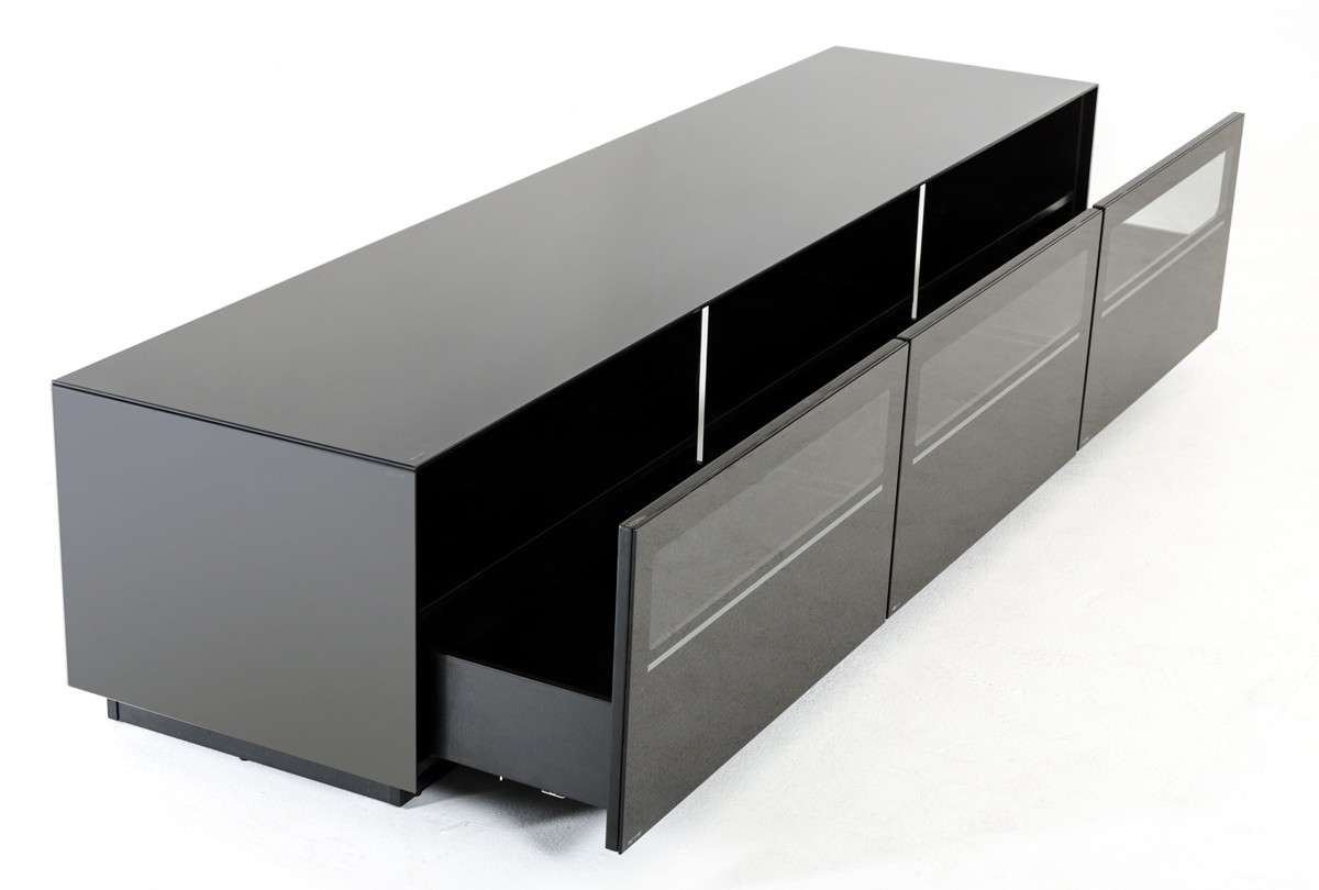Modrest Landon Contemporary Black Tv Stand – Entertainment Centers Intended For Modern Black Tv Stands (View 16 of 20)