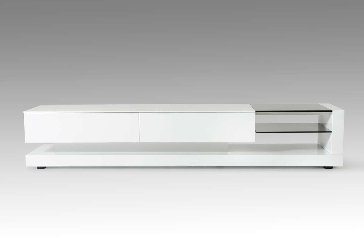 Modrest Mali Modern White Tv Stand Regarding Modern White Lacquer Tv Stands (View 13 of 15)