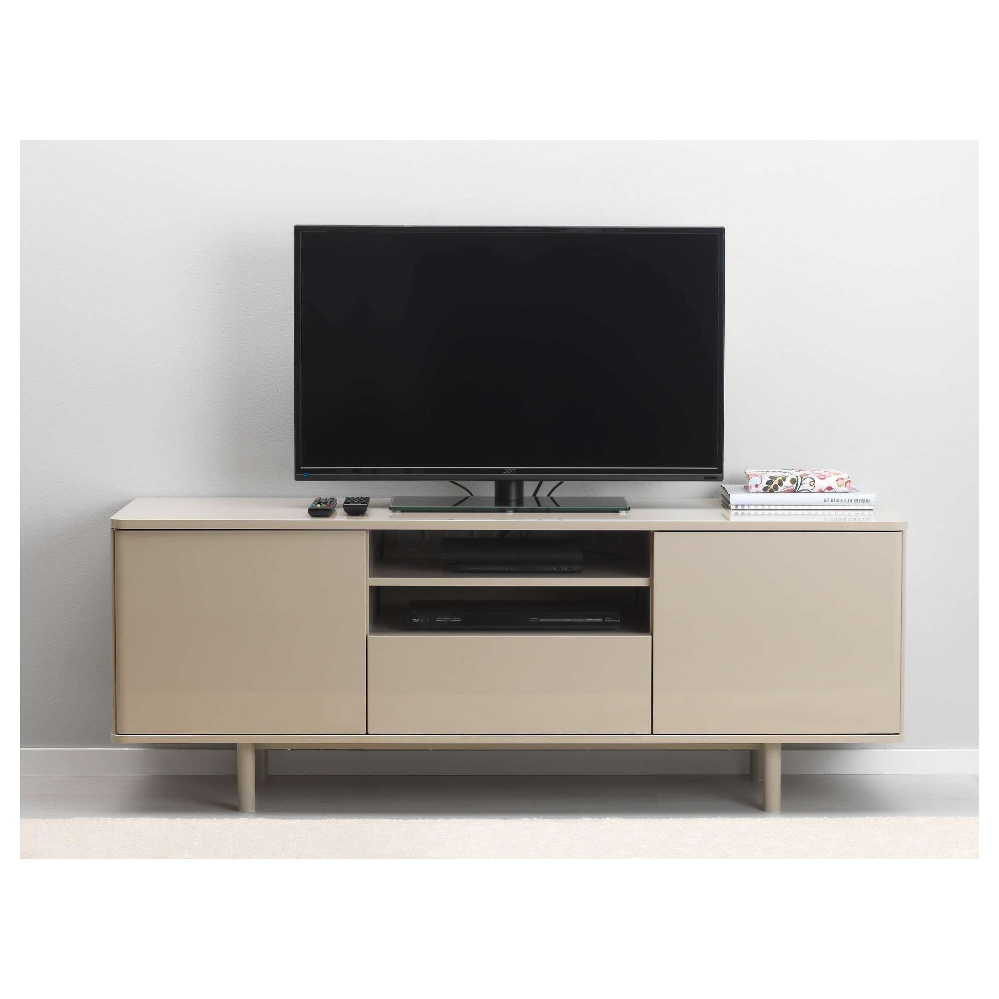 Mostorp Tv Bench Beige 159X46 Cm – Ikea Pertaining To Bench Tv Stands (View 13 of 15)