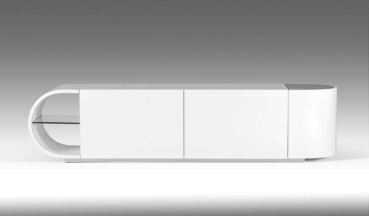 Nelly Modern White Glossy Tv Stand Throughout Contemporary White Tv Stands (View 13 of 15)