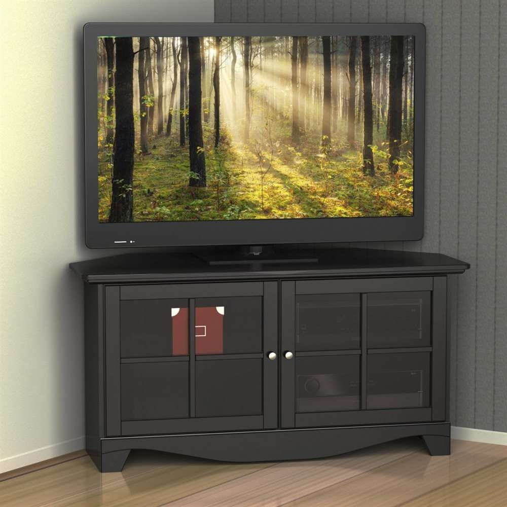 Nexera 102506 Pinnacle 49 Inch Corner Unit   Lowe's Canada Regarding Black Corner Tv Cabinets With Glass Doors (View 4 of 20)