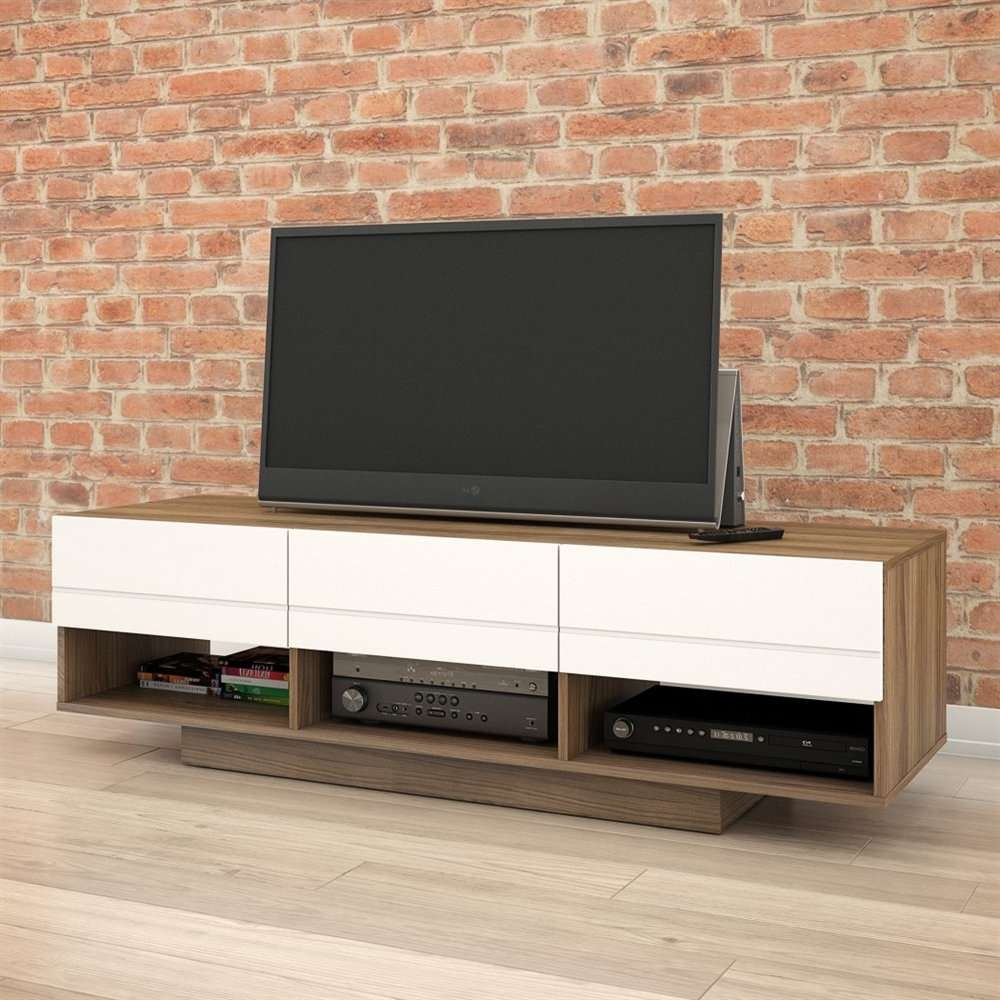 Nexera 105140 Sequence 60 In Tv Stand | Lowe's Canada For Nexera Tv Stands (View 3 of 15)