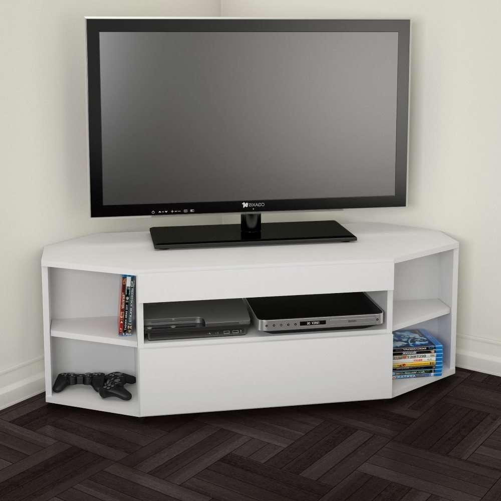 Nexera 226103 Blvd 48 Inch Corner Tv Stand | Lowe's Canada Pertaining To Cornet Tv Stands (View 10 of 15)