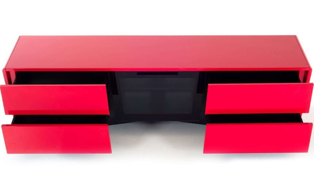 Nova Domus Max Modern Tv Stand In Red | Free Shipping | Get (View 13 of 15)