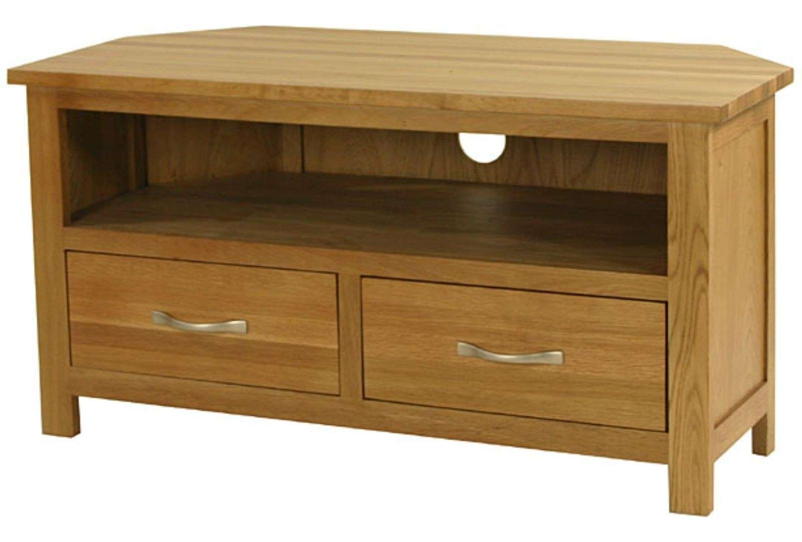Nursing Home Furniture Corner Tv Unit From Hill & Hill Design In Solid Oak Tv Cabinets (View 6 of 20)