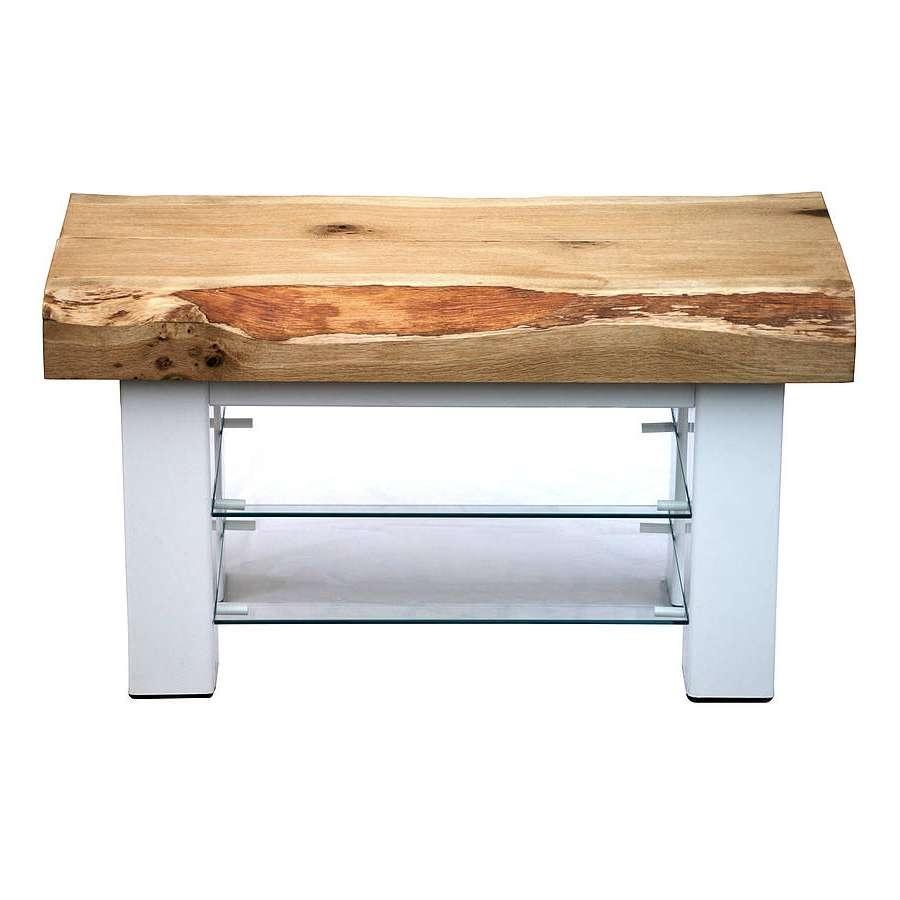 Oak And Iron Medium Tv Standoak & Iron Furniture Regarding Tv Stands In Oak (View 11 of 15)