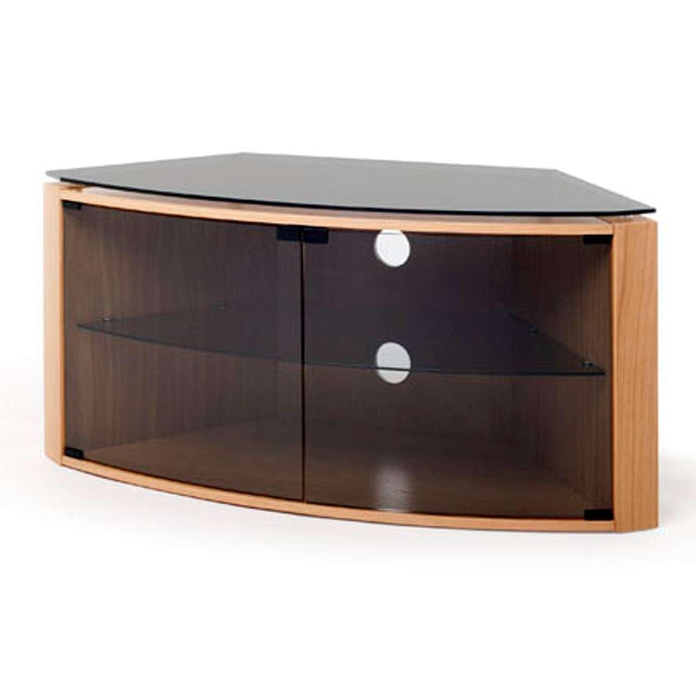 Oak Corner Tv Cabinet With Glass Doors – Imanisr With Light Oak Corner Tv Cabinets (View 10 of 20)