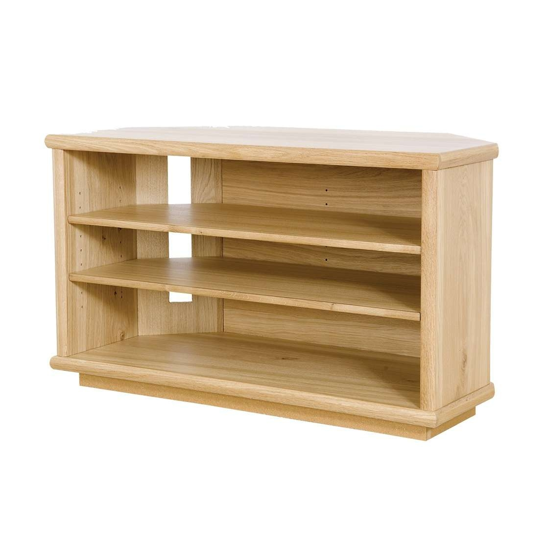 Oak Corner Tv Stand | Gola Furniture Uk Throughout Corner Wooden Tv Stands (View 6 of 15)