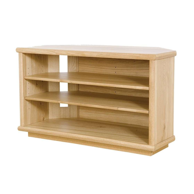 Oak Corner Tv Stand | Gola Furniture Uk With Dark Wood Corner Tv Stands (View 9 of 15)