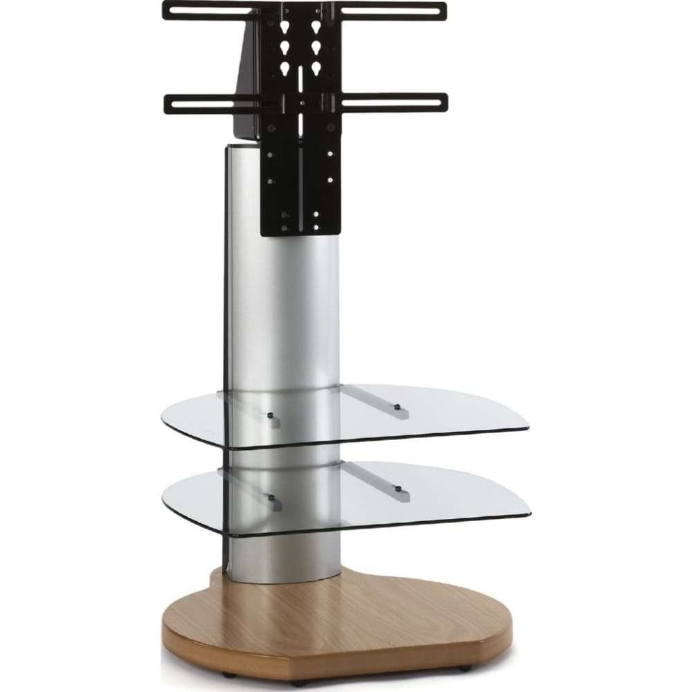 Oak Dark Wood Small Round Tv Stand Mount Glass Shelves Within Off The Wall Tv Stands (View 3 of 15)