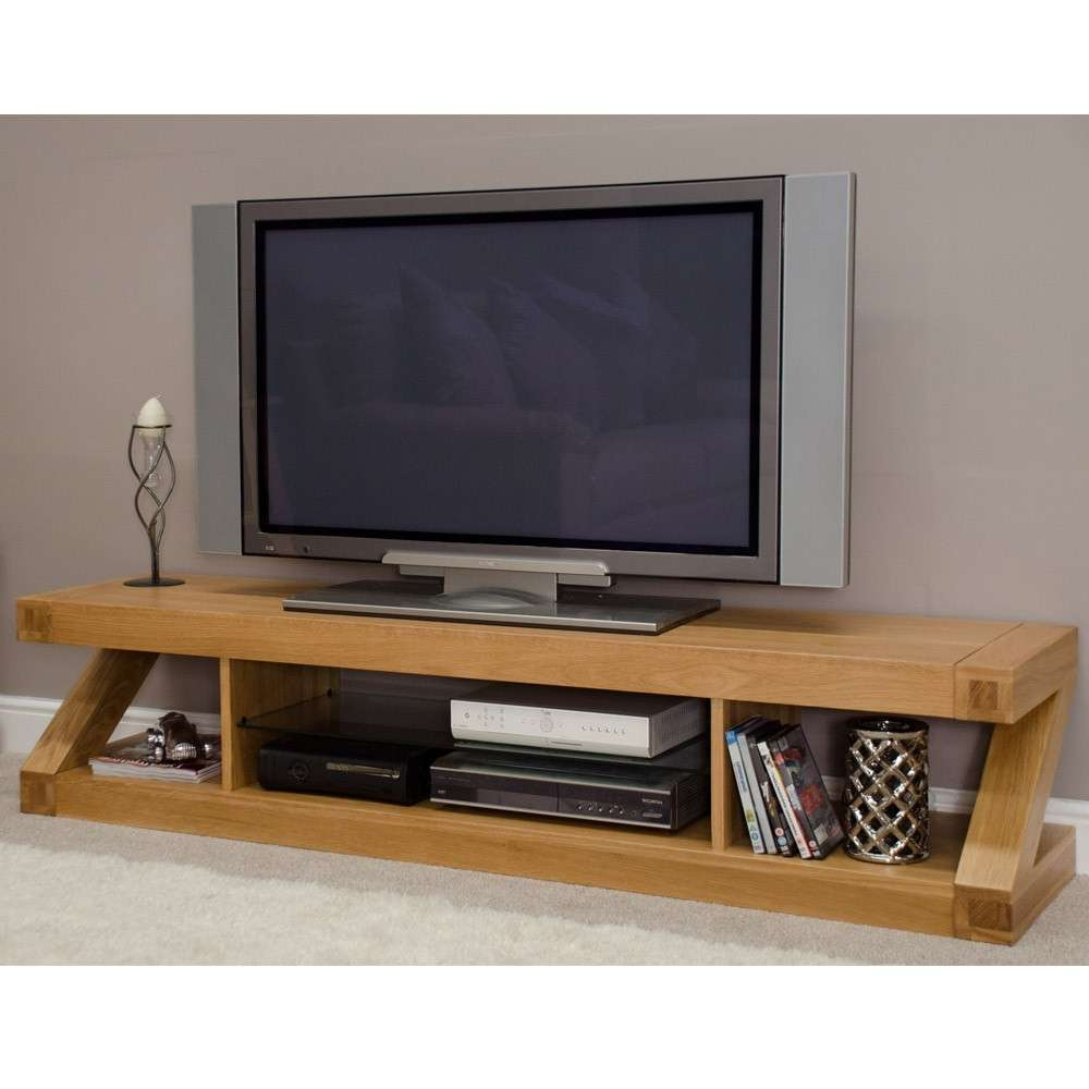 Oak Flat Screen Tv Stands Wood For Living Room Media Tvs Stunning In Wooden Tv Stands For Flat Screens (Gallery 1 of 15)
