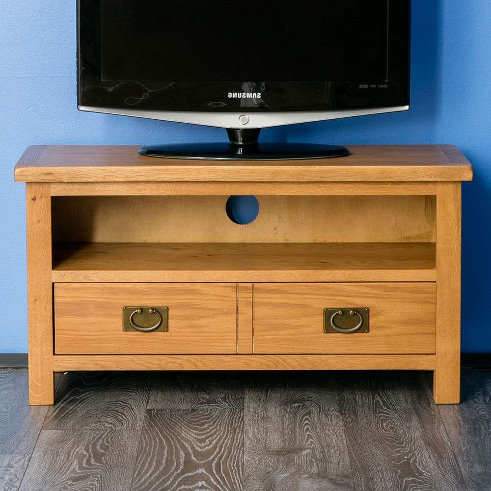Oak Tv Cabinet | Ebay With Hardwood Tv Stands (View 8 of 15)