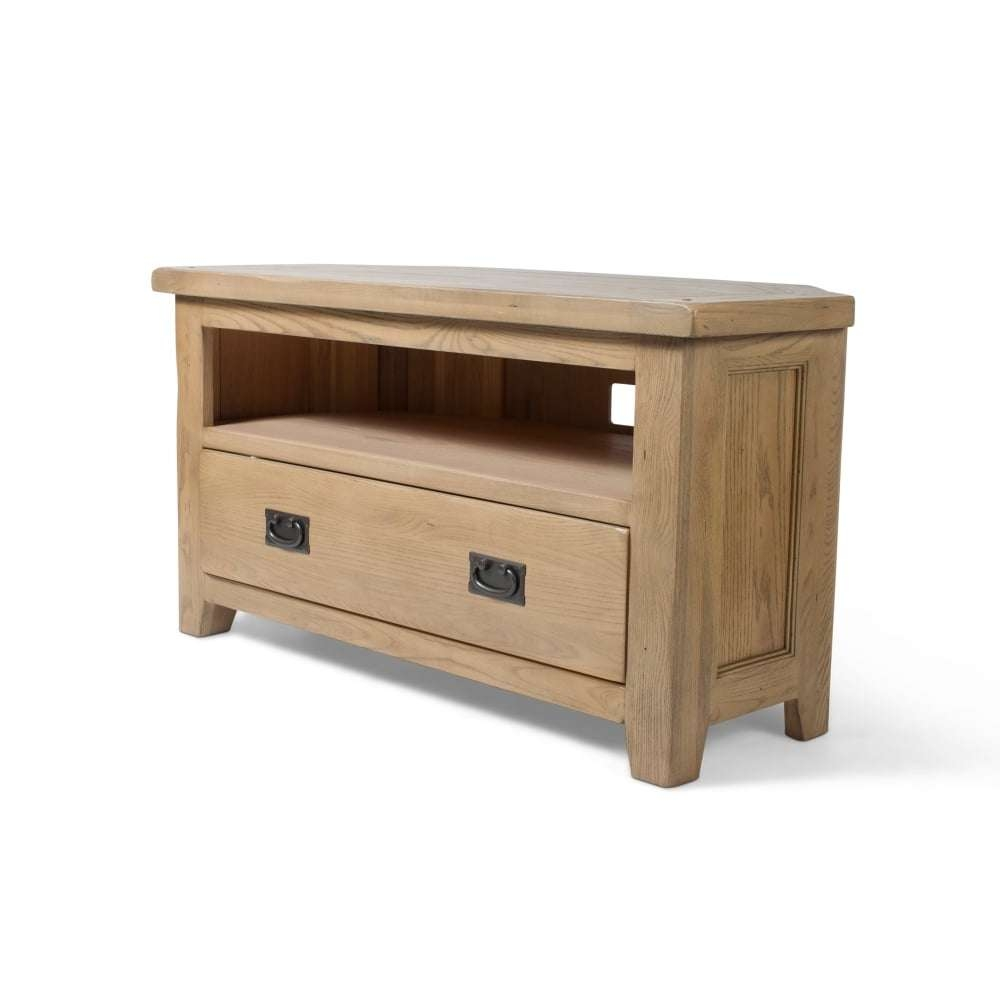 Oak Tv Corner Unit – Living Room From Mdm Furniture Ltd T/a Direct With Corner Unit Tv Stands (View 6 of 15)