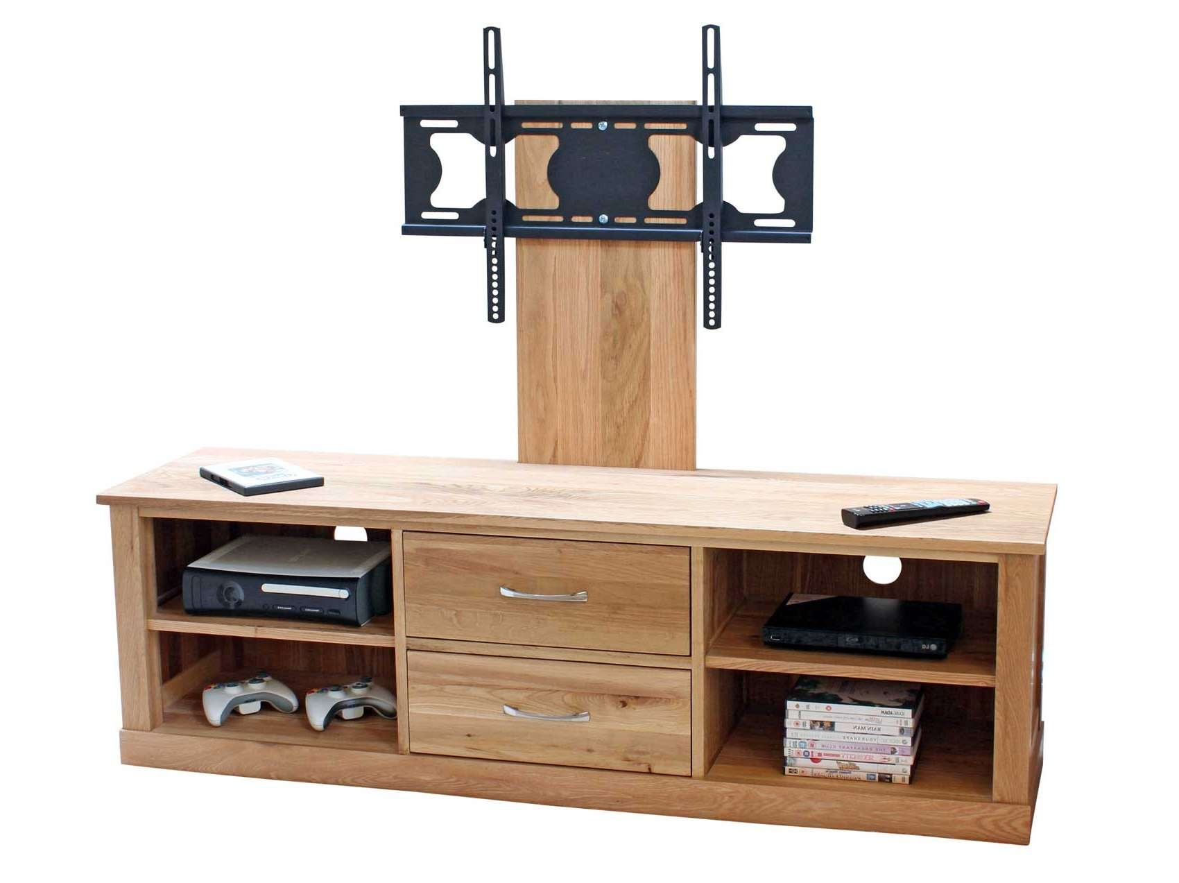 Oak Wooden Tv Stand With Mount For Flat Screen Of 14 Gorgeous Pertaining To Wood Tv Stands With Swivel Mount (View 8 of 15)