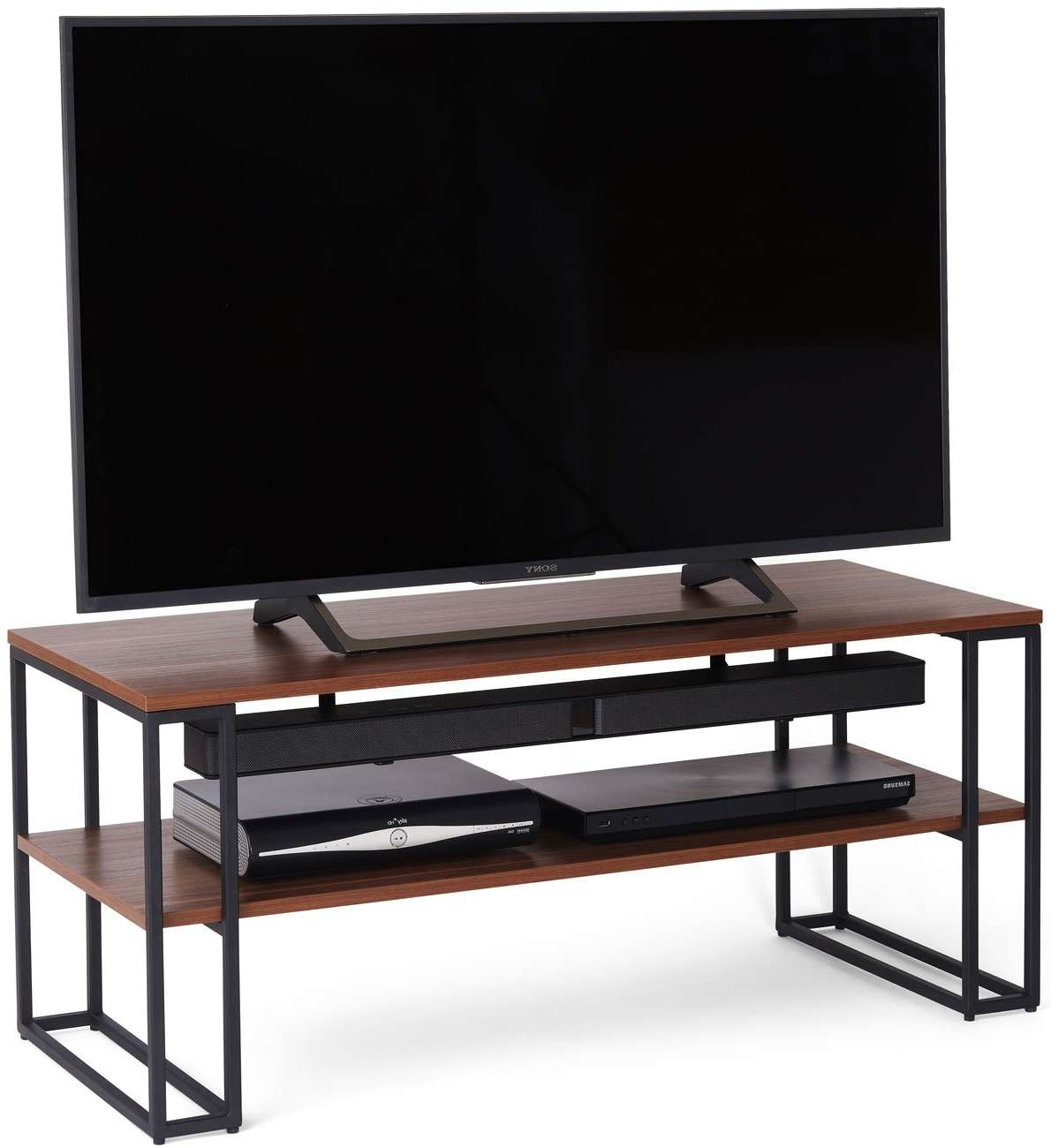 Off The Wall Cube 1100 Walnut Tv Stands Intended For Walnut Tv Stands (View 9 of 15)