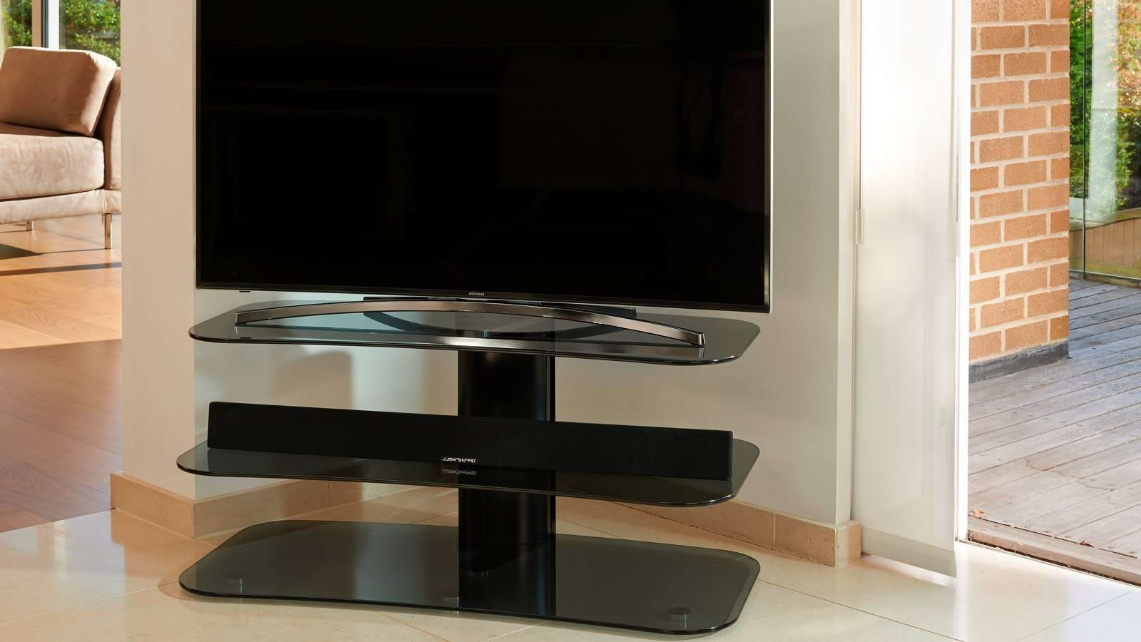 Off The Wall – Flat Screen Tv Stands Pertaining To Off Wall Tv Stands (View 7 of 15)