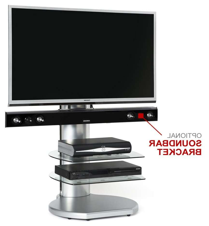 Off The Wall Origin Ii S4 Silver Tv Stands Within Silver Tv Stands (Gallery 6 of 15)
