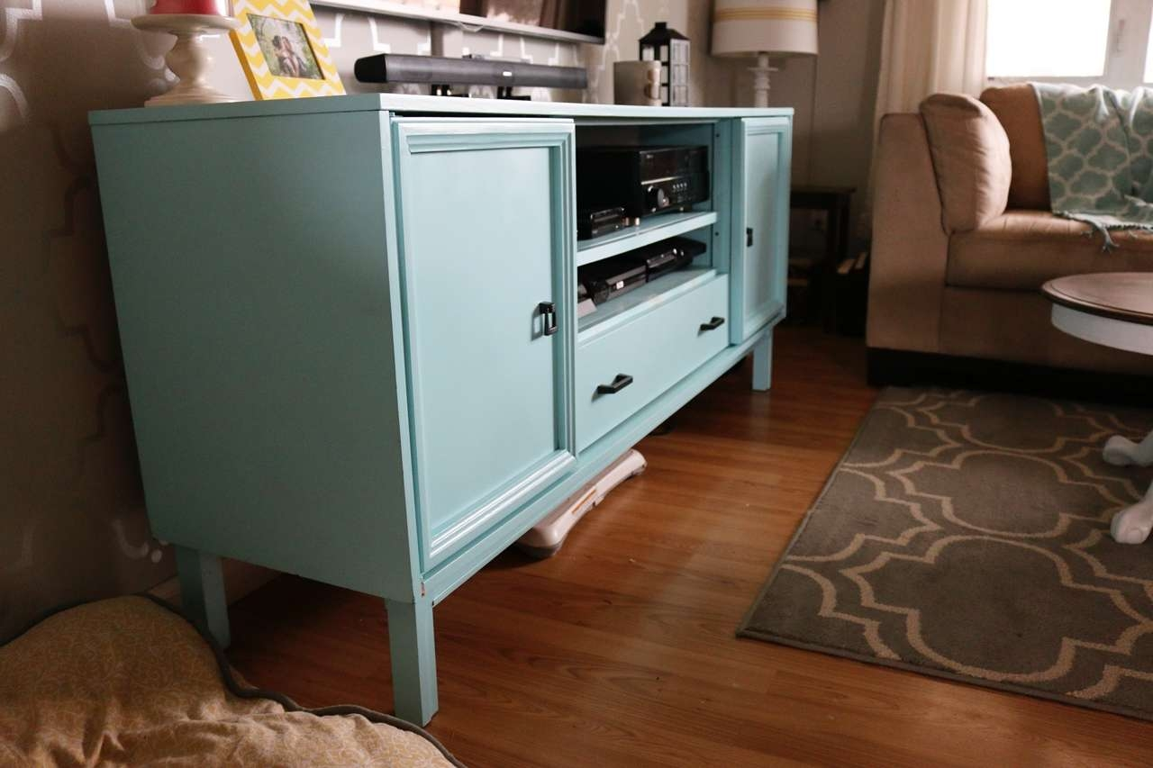 On A Cold Day Inside Painted Tv Stands (View 15 of 15)