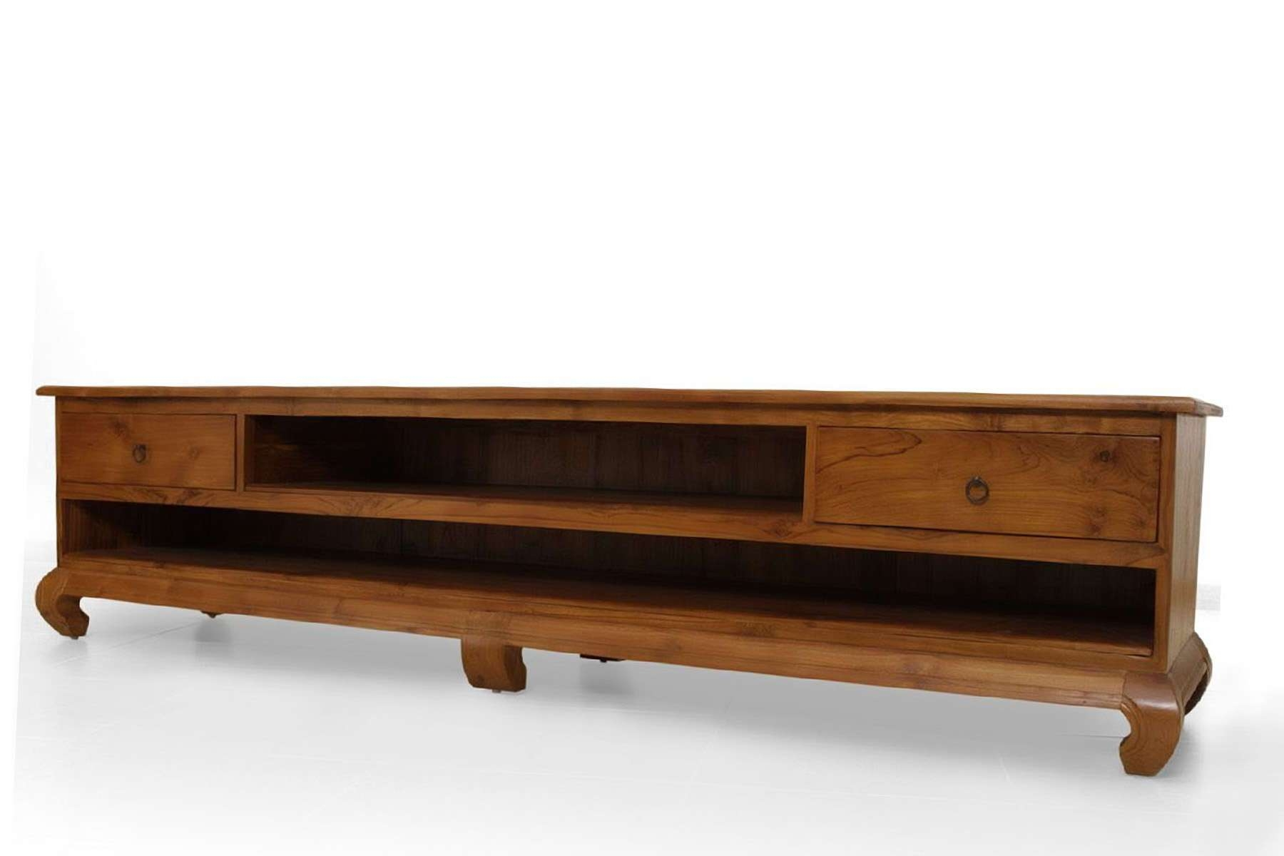 Opium Tv Stand Handcrafted Of Teak Solid Wood With Regard To Hard Wood Tv Stands (View 11 of 15)