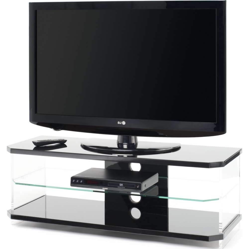 Optically Clear Side Panels; Screens Up To 55 Inside Tv Stands Black Gloss (View 11 of 15)