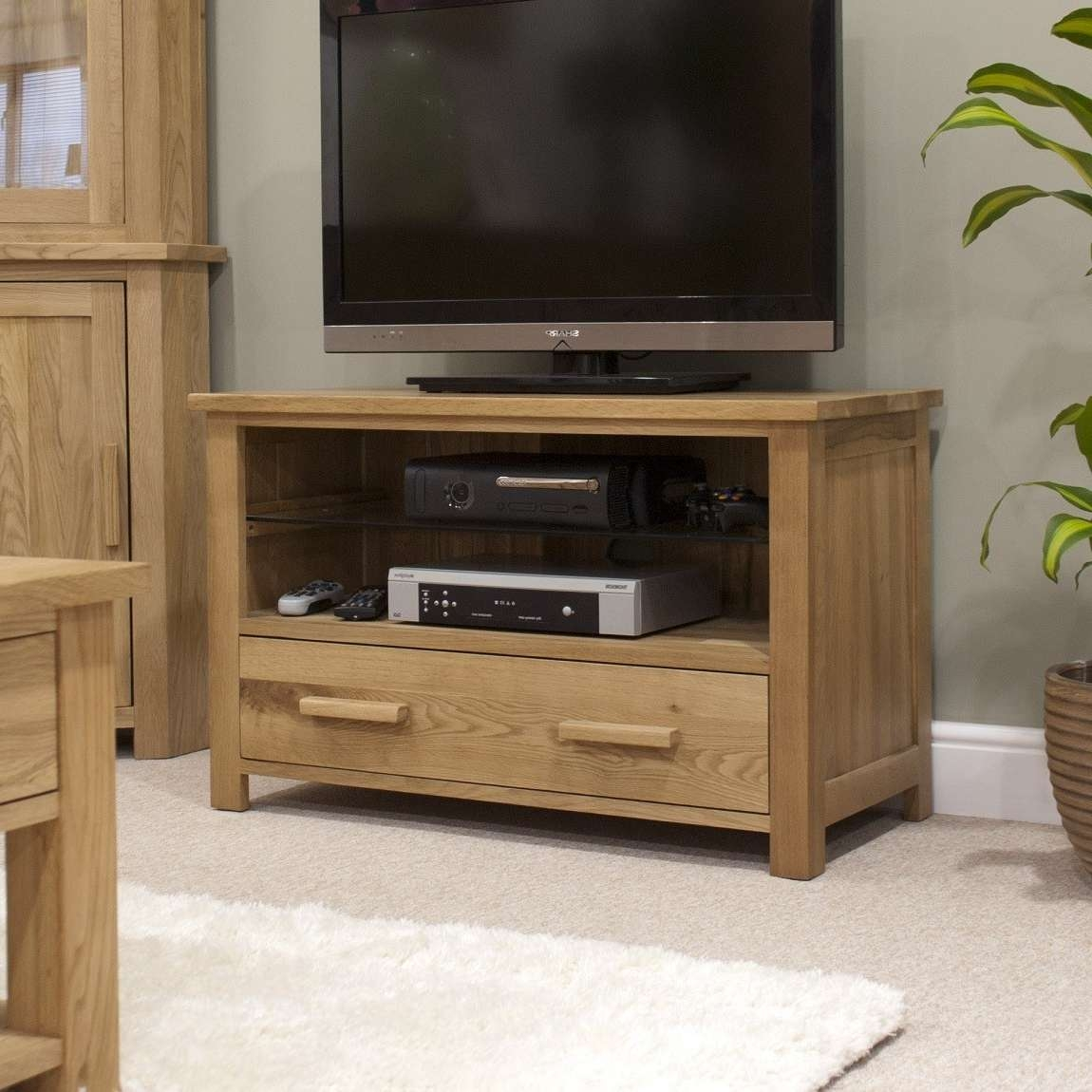 Opus Solid Oak Tv Cabinet | Oak Furniture Uk With Oak Tv Cabinets (View 6 of 20)