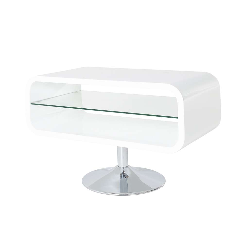 Oval Gloss Compact Tv Unit White – Dwell Inside White Gloss Oval Tv Stands (View 7 of 15)