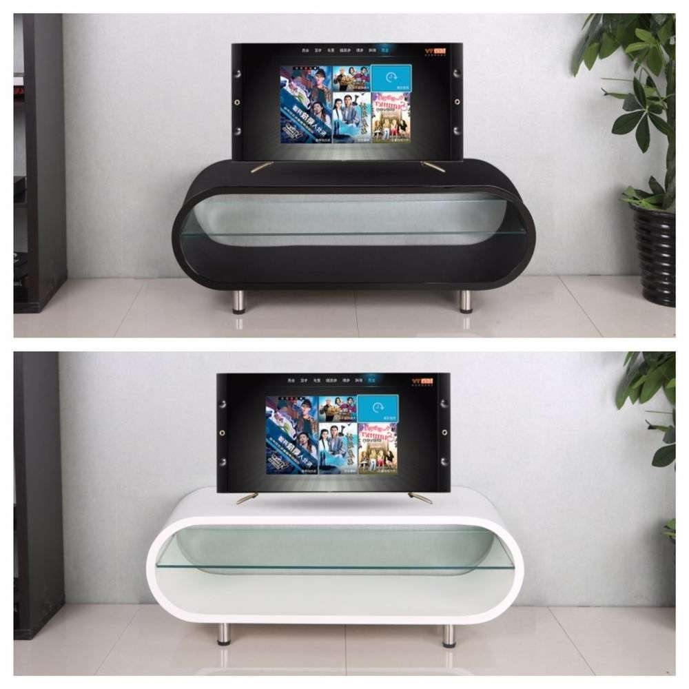 Oval Tv Stand | Ebay Throughout Shiny Black Tv Stands (Gallery 10 of 15)