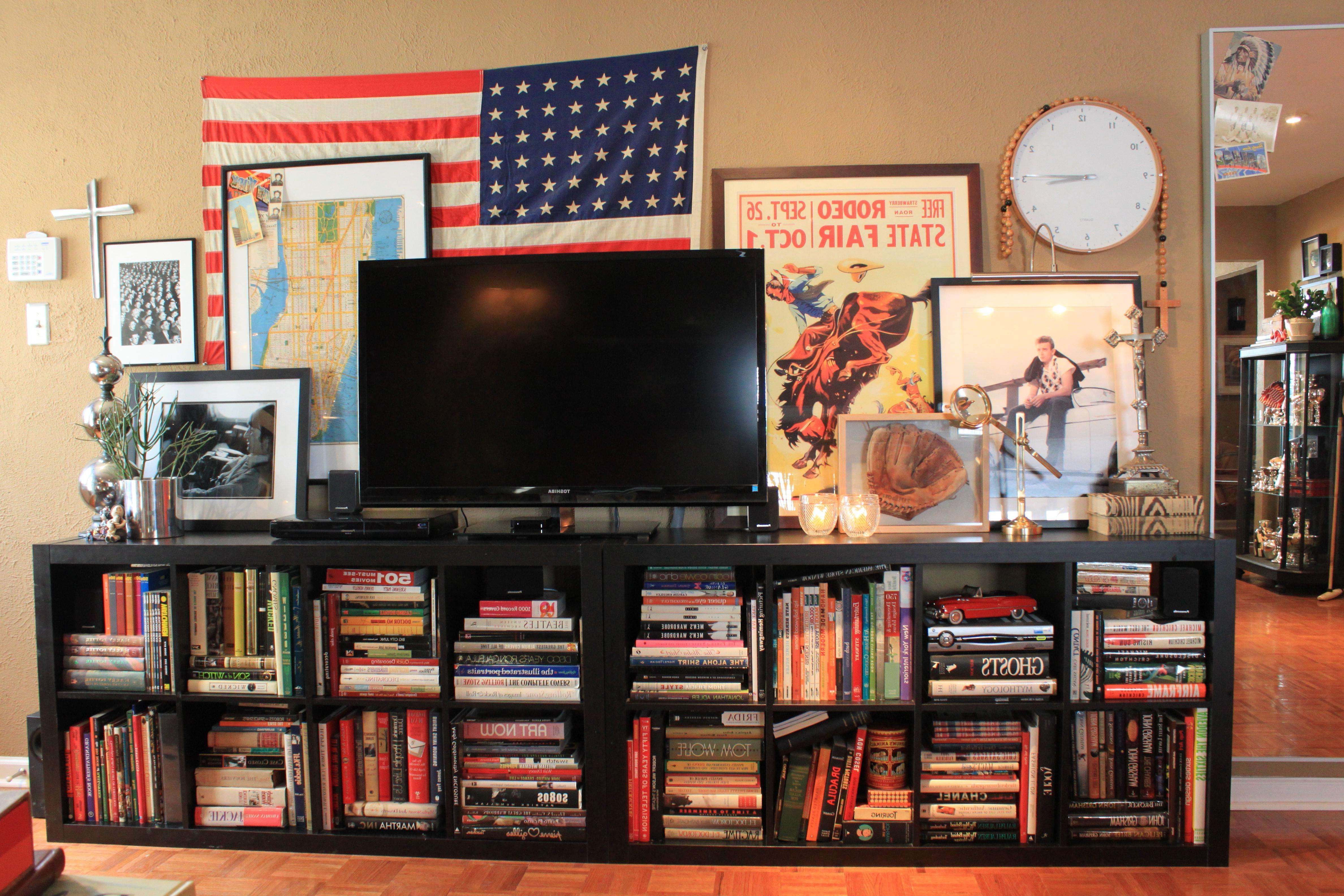 Overwhelming Extend Ikea Bookcases Design Featuring Long Lines Intended For Bookshelf And Tv Stands (View 8 of 15)