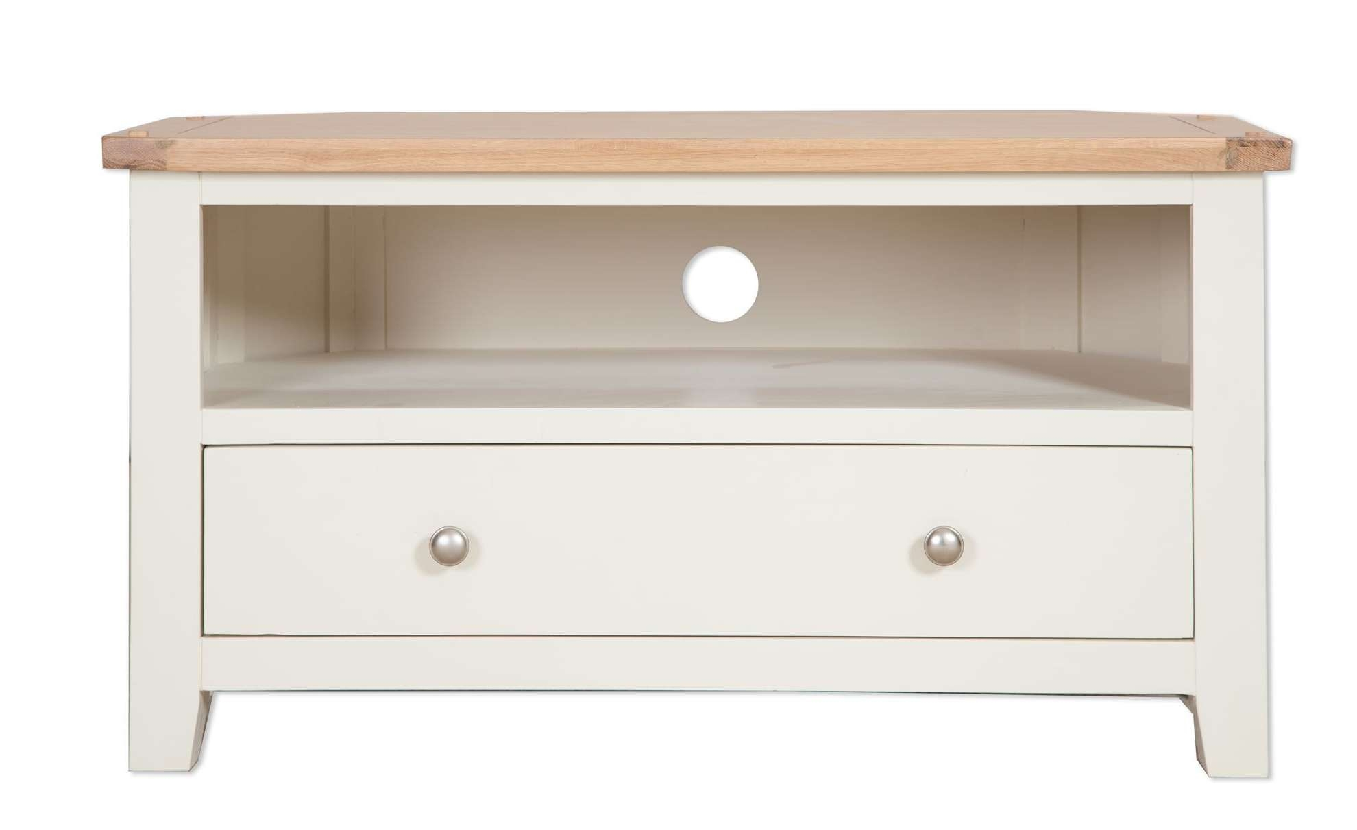 Painted Ivory Corner Tv Unit – Cambridge Home & Garden Pertaining To Painted Corner Tv Cabinets (View 4 of 20)