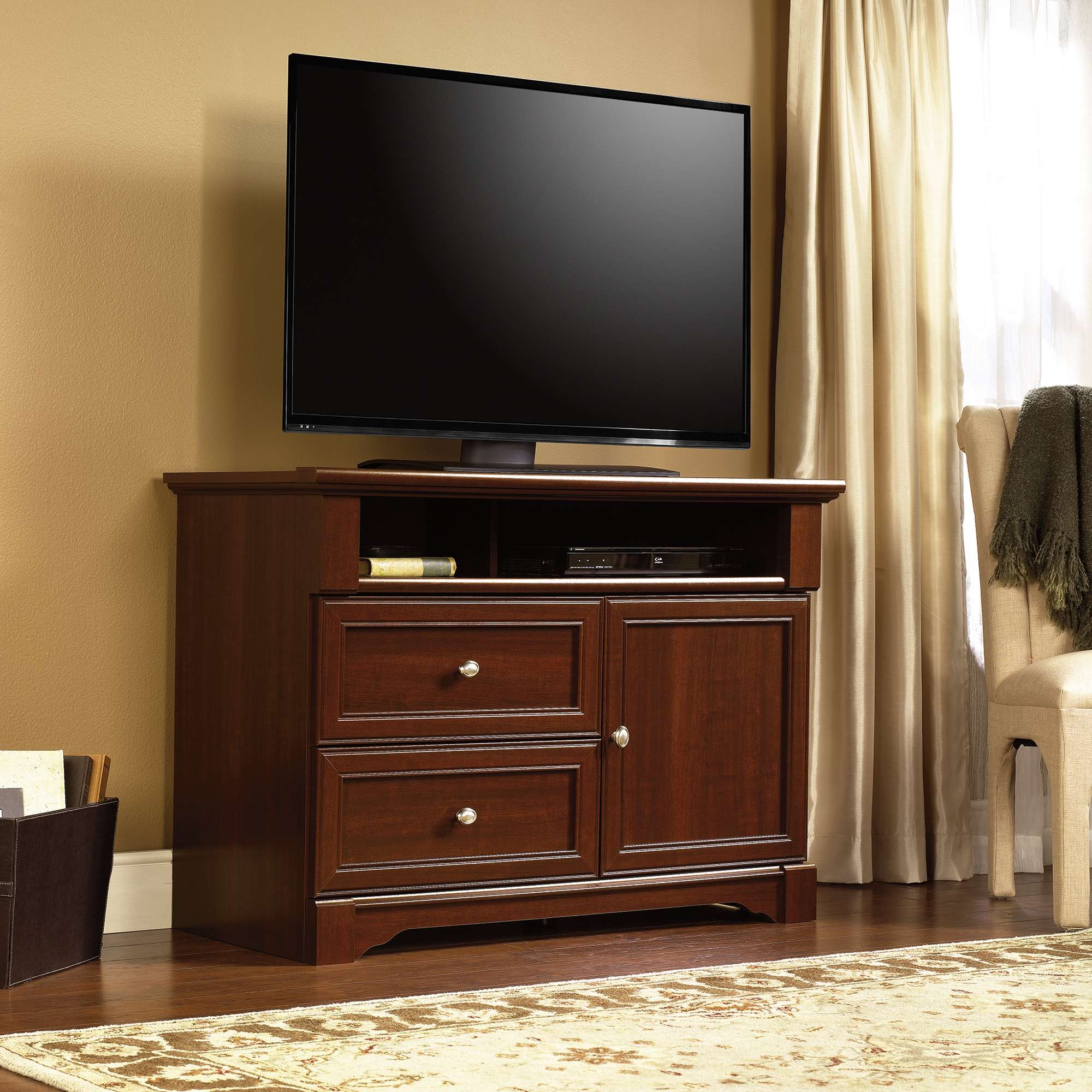 Palladia | Highboy Tv Stand | 411626 | Sauder Pertaining To Highboy Tv Stands (View 2 of 15)