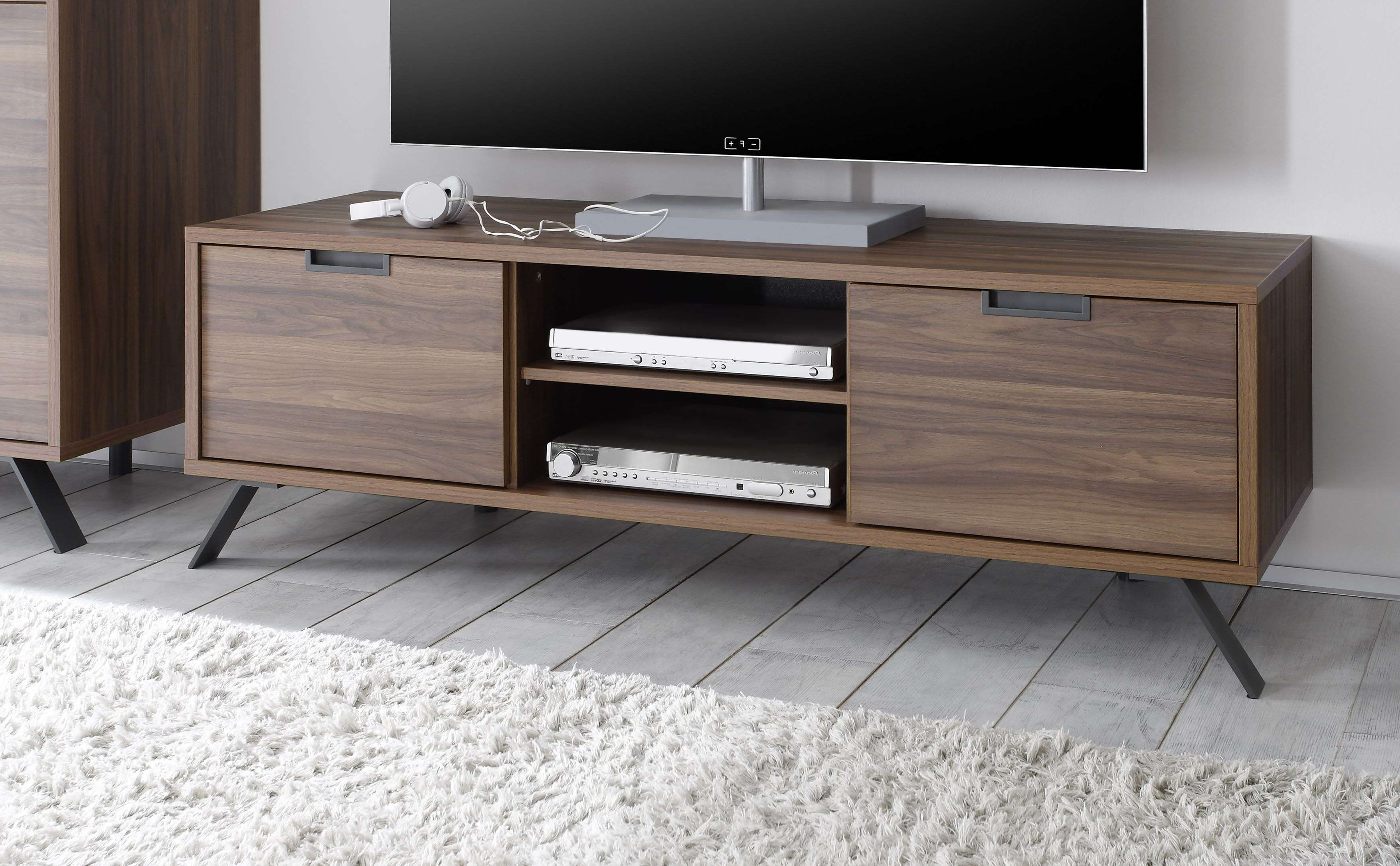 Palma Tv Stand, Walnut Buy Online At Best Price – Sohomod For Walnut Tv Stands (View 10 of 15)