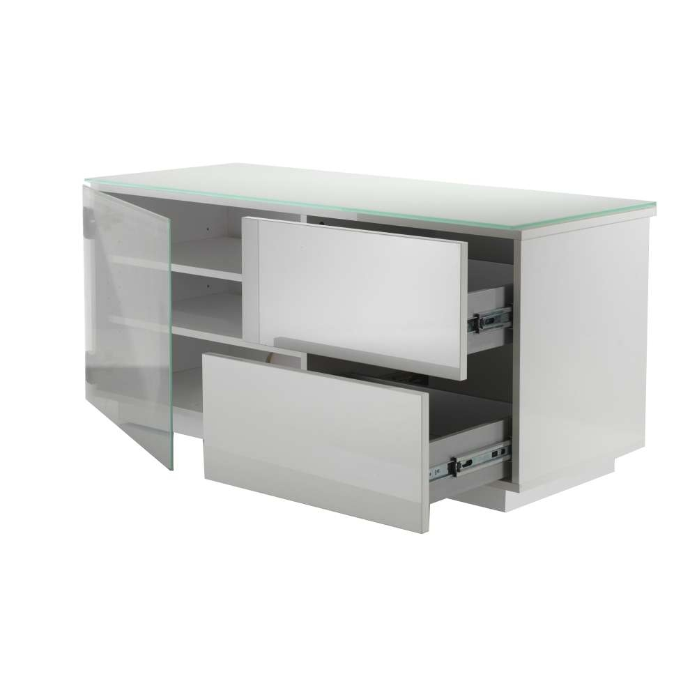 Paris White Gloss 2 Drawer T (View 11 of 15)
