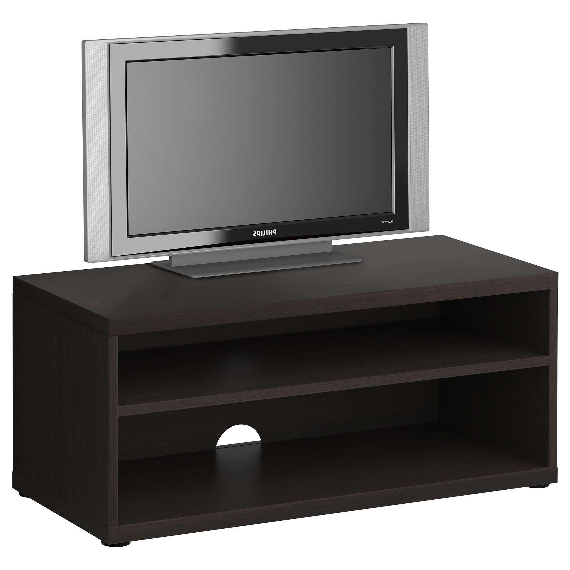 Peculiar Mosjo Tv Unit Blackbrown For Small Tv Stands Ikea Toger With Regard To Small Black Tv Cabinets (View 12 of 20)