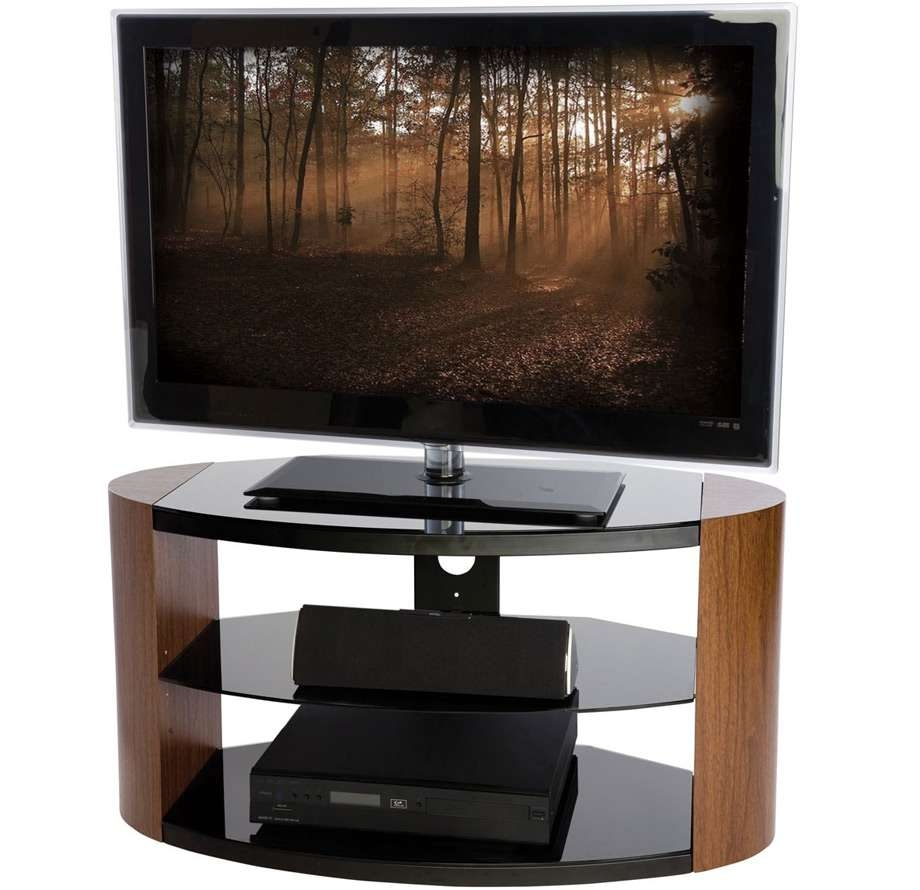 Peerless Portland 900 Oval Walnut Tv Stand – Wood Tv Stands For Oval Tv Stands (View 12 of 20)