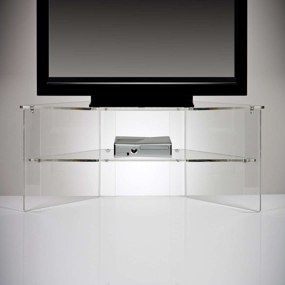 Perspex Acrylic Transparent Tv Stand Premium Acrylic Made In Acrylic Tv Stands (View 10 of 15)