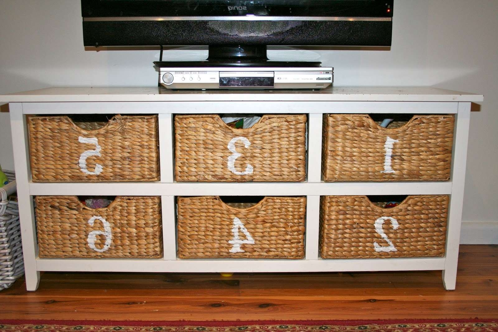 Piquant Toy Storage Unit 8 Cube Storage Unit Rattan Storage Drawer Within Tv Stands With Storage Baskets (View 6 of 15)
