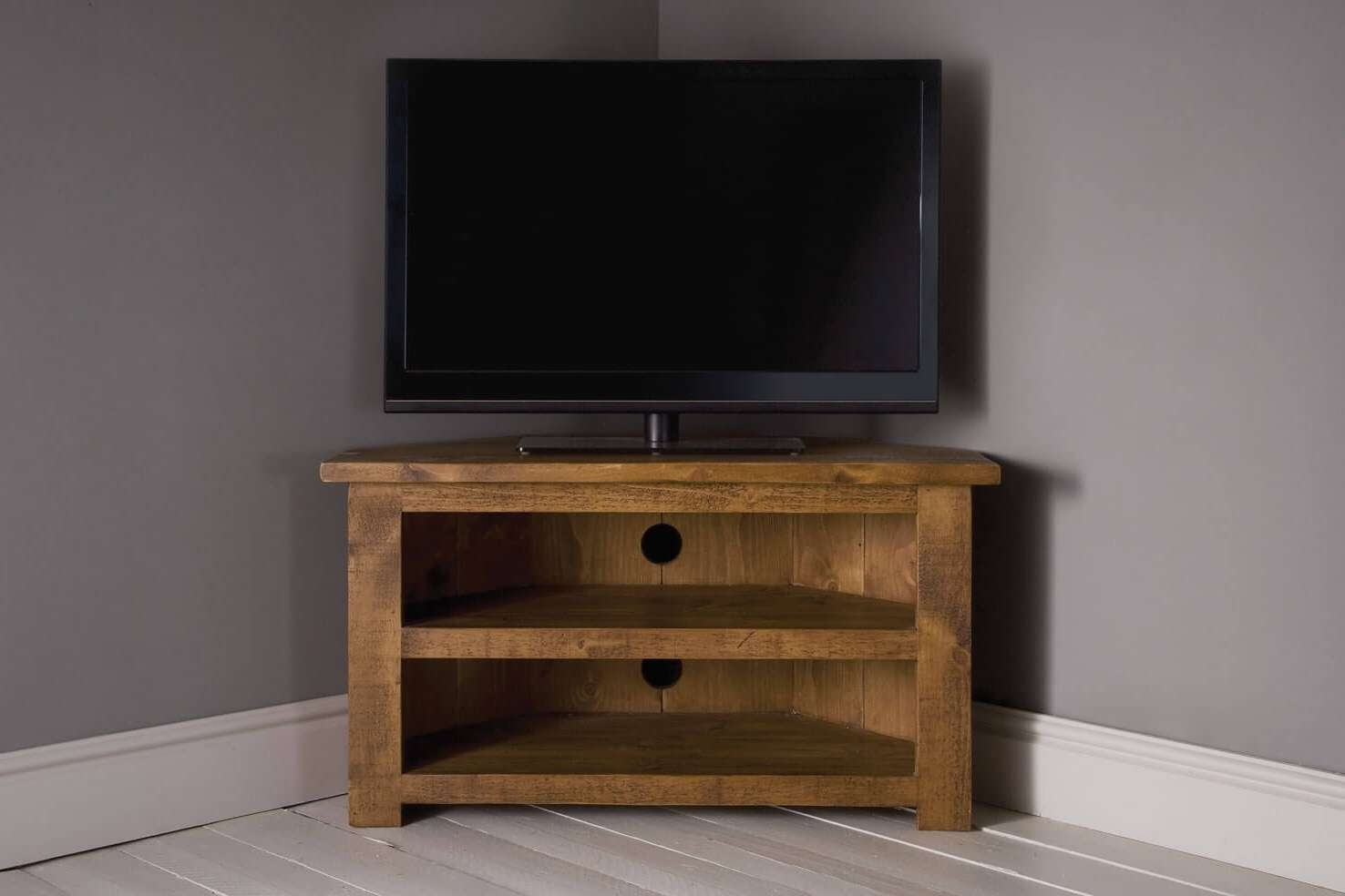 Plank Corner Tv Unit With Shelfindigo Furniture For Tv Cabinets Corner Units (View 12 of 20)