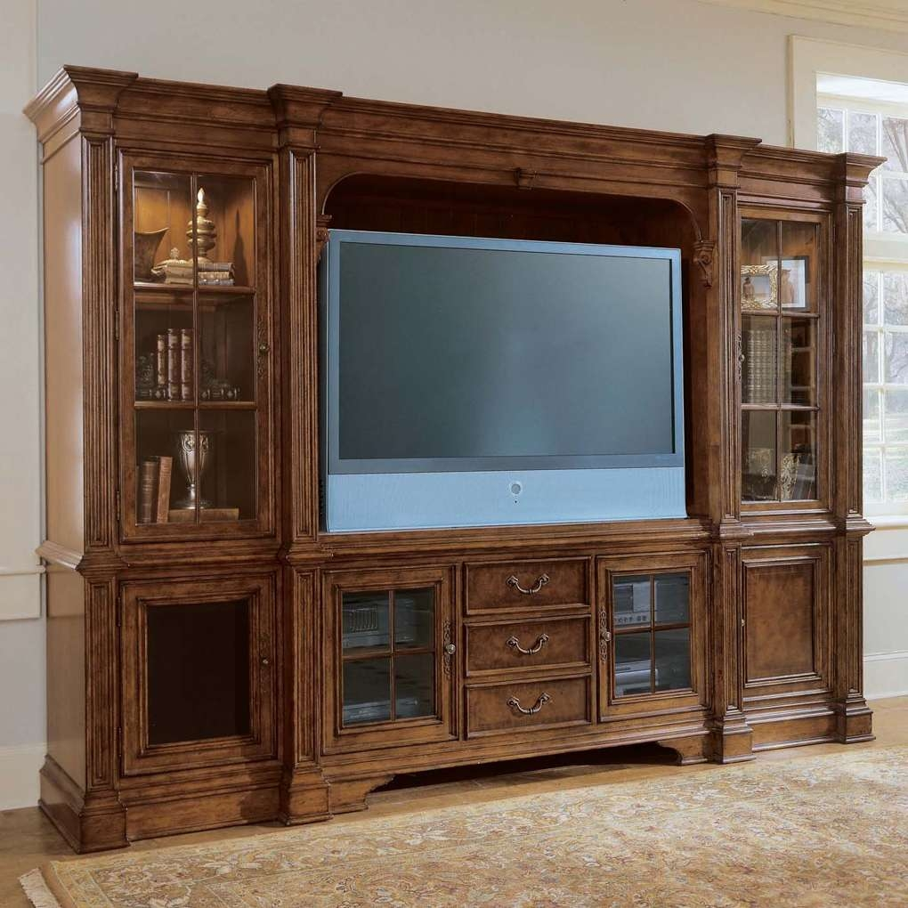 Plasma Console Deck Tv Stand Villa Cortina Bookcase Included | Tv In Tv Stands With Bookcases (View 6 of 15)