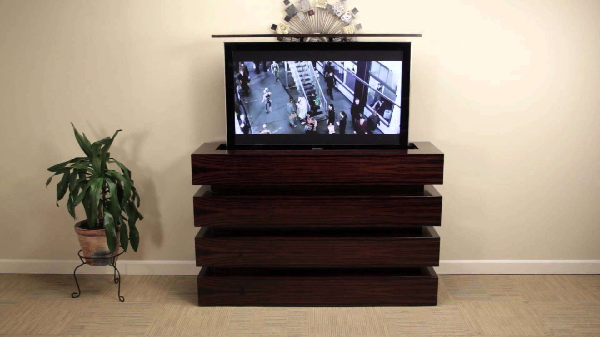 Pop Up Tv Cabinet End Of Uk Designs Go High Boy Stand In Black For In Pop Up Tv Stands (View 4 of 20)
