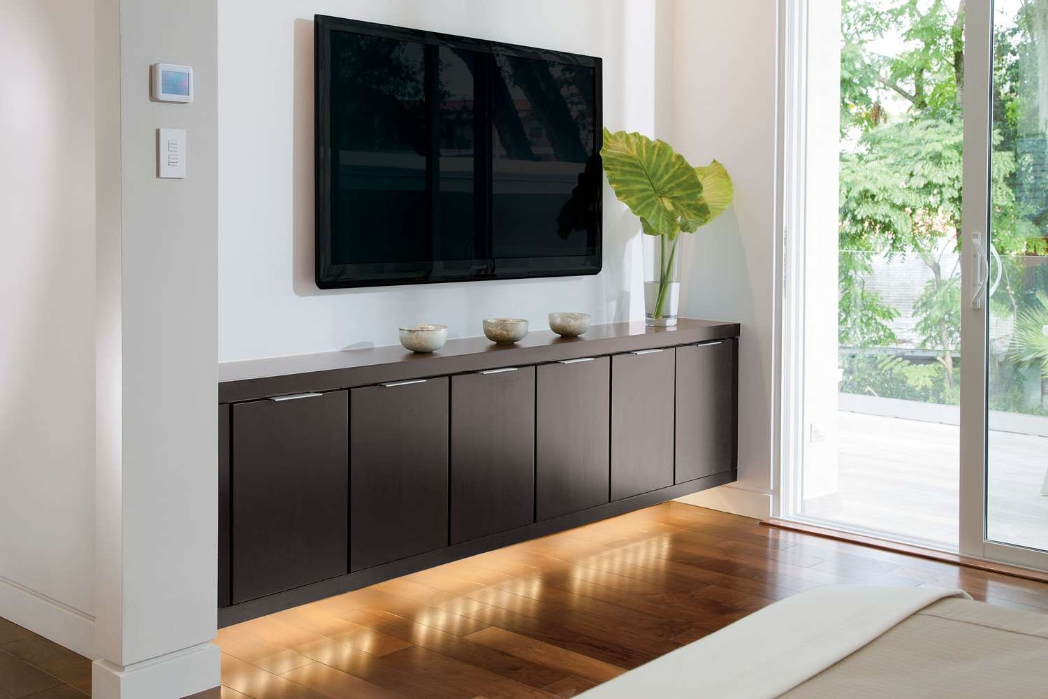 Prefabricated Particle Wood Floating Media Console Storage Under With Regard To Under Tv Cabinets (View 2 of 20)