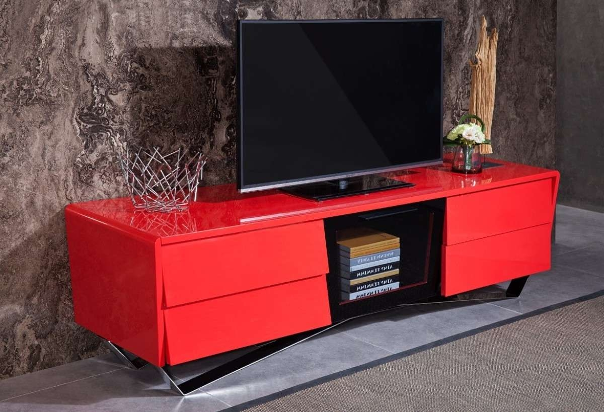 Pristine More Views Rostock Red Tv Stand To Smashing To Zoom Inside Red Tv Stands (View 15 of 15)