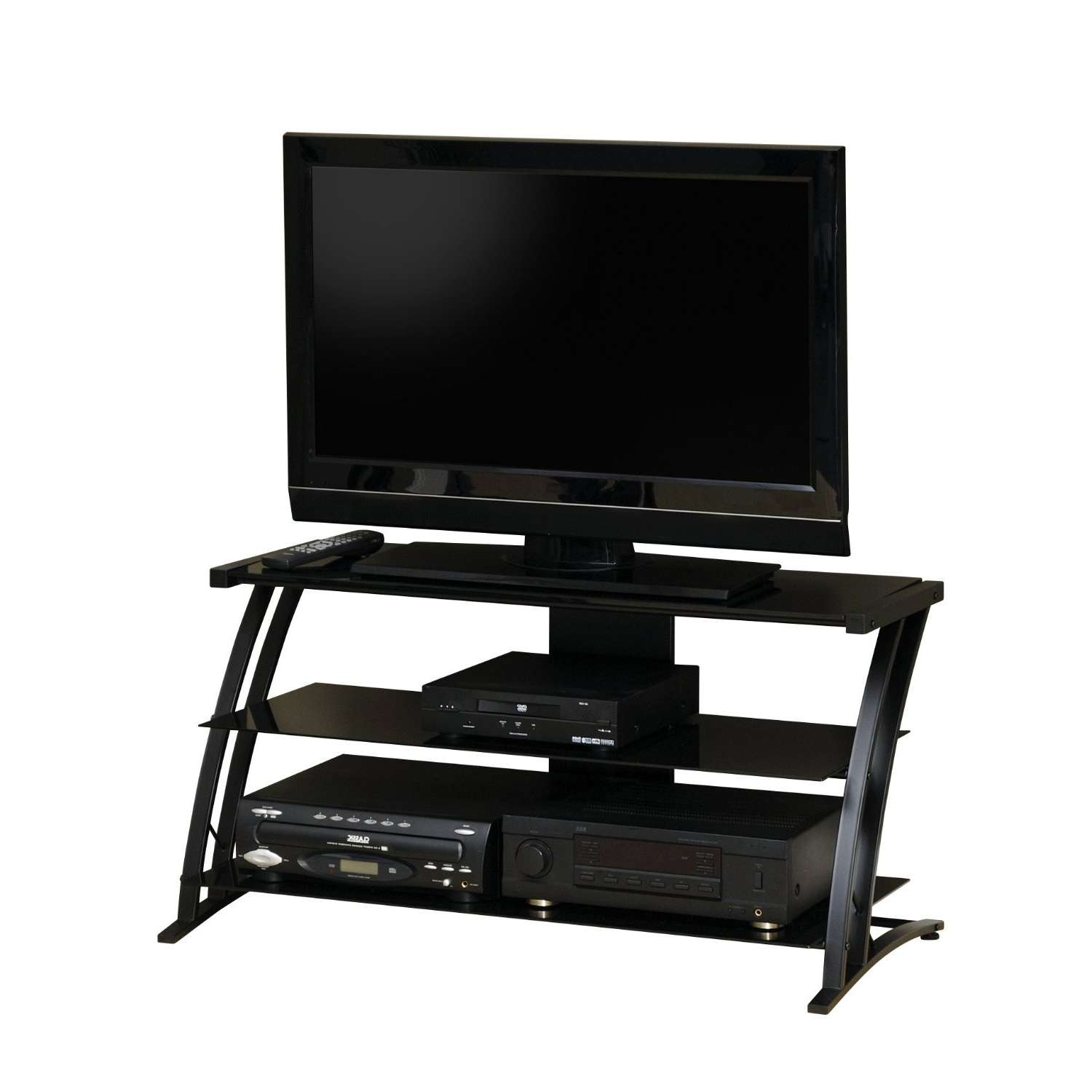 Prodigious 4 Flat Screen Tv Stands Entertainment Centers Flat For Glass Front Tv Stands (View 14 of 20)