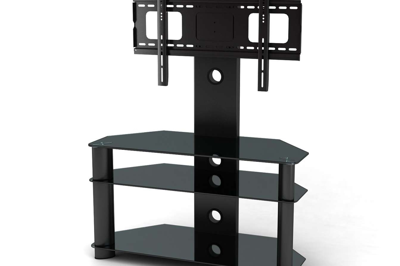 Prominent Tall Tv Stand For 32 Inch Flat Screen Tags : Tall Tv Throughout Bracketed Tv Stands (View 13 of 15)