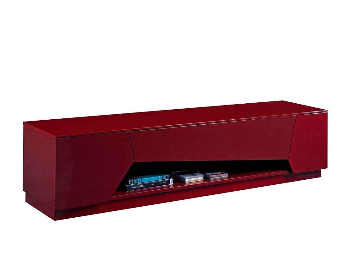 Red High Gloss Tv Base Sj125 | Tv Stands For Red Modern Tv Stands (View 7 of 15)