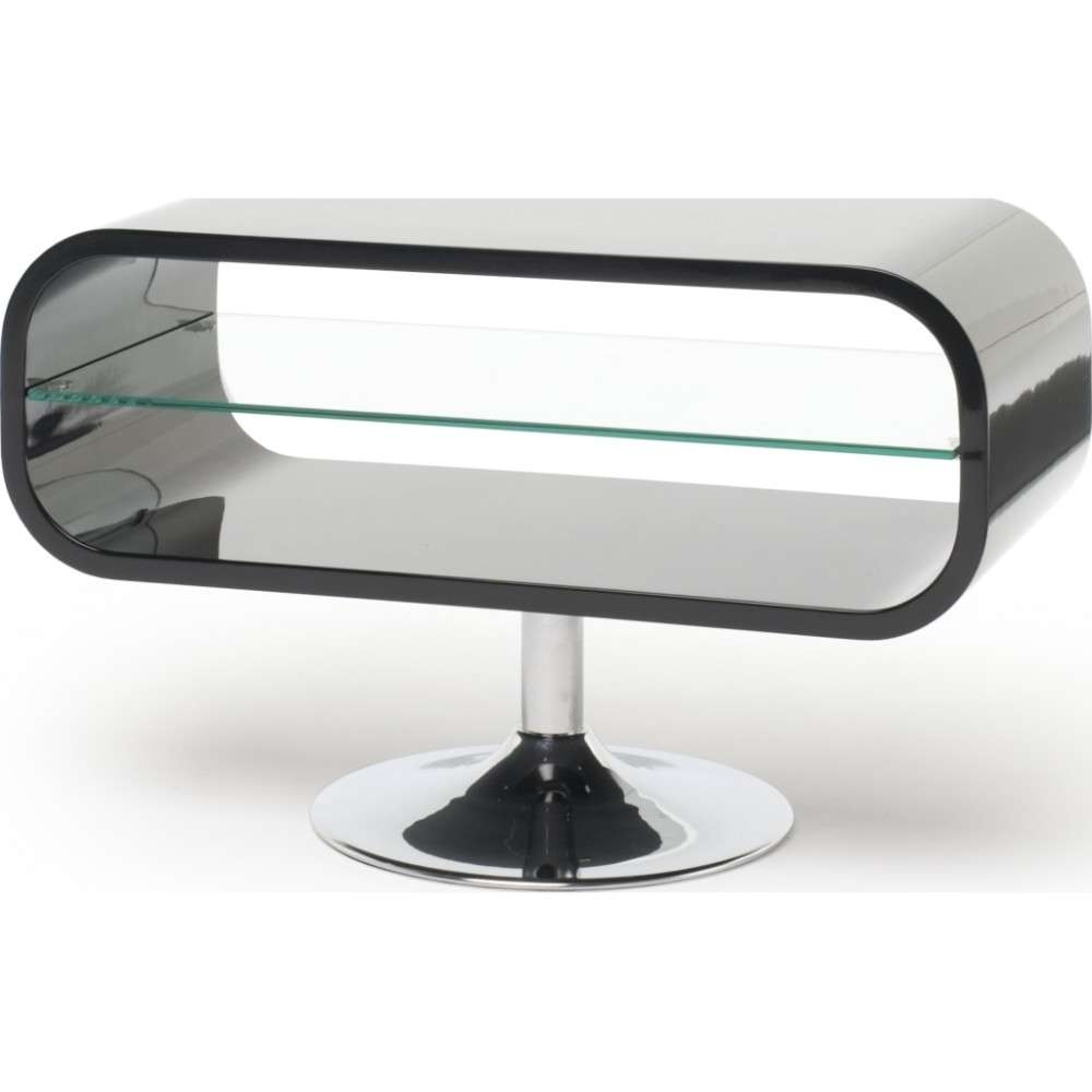 Retro Chrome Pedestal; Quick To Assemble; Displays Up To 42 With Ovid Tv Stands Black (View 9 of 20)