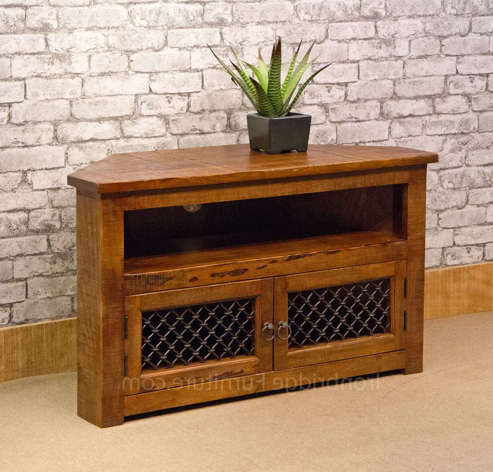 Rf 13 Jali Rustic Farm Corner Tv Stand 100cm Intended For Tv Stands 100cm (View 7 of 15)